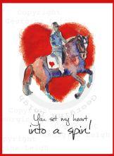 Dressage Horse Valentines Card